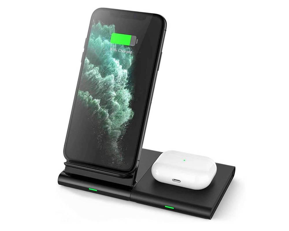 Cargador inalámbrico iPhone Hoidokly Q400