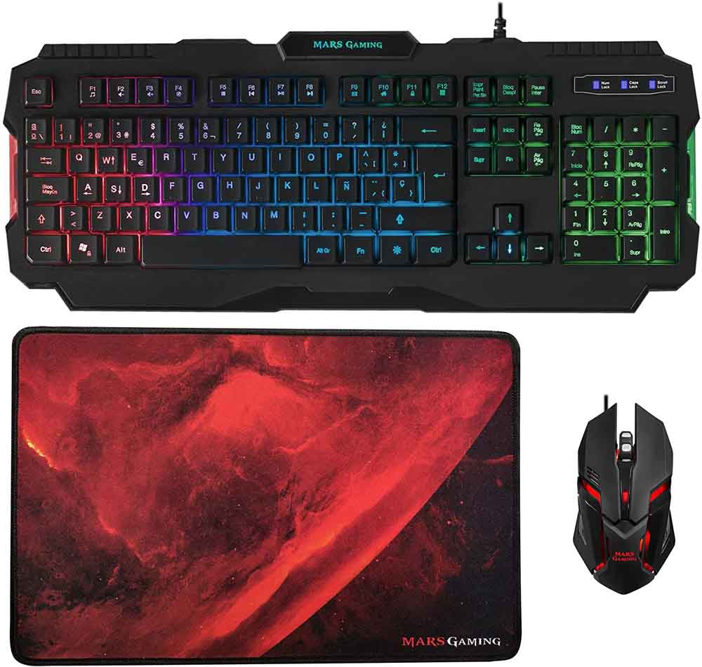 Pack teclado y ratón gaming Mars Gaming MCP118
